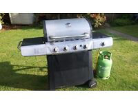 Large 5 burner gas barbeque