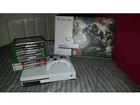 Boxed Xbox One S 1TB with controller, 11 Games and rechargeable batteries