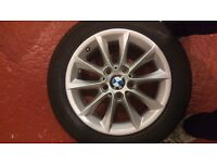 "Genuine BMW 16"" Alloy Wheels & Winter Cold Weather Run Flats Tyres Set of 4 Great Condition"
