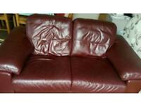 Leather chair and 2 seater sofa