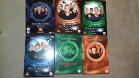 Stargate SG1 Series 1-9 and extra DVDs