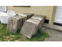 43 Grey paving / patio slabs