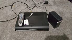 Sky+HD box with remote and wifi box
