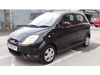 2008 58 CHEVROLET MATIZ 1.0 SE PLUS 5DR MOT 07/17 BLACK (CHEAPER PART EX WELCOME
