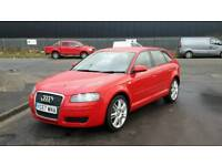 2007 Audi A3 1.9 tdi 5dr cambelt done pioneer lcd fitted tidy car