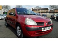 2004 RENAULT CLIO 1.1 AUTHENTIQUE ++ONLY 64000 MILES++1 FORMER KEEPER++12 MONTHS M.O.T++
