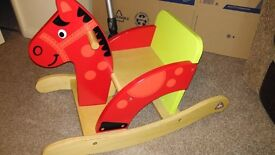 Young childs rocking horse