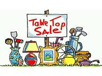 TABLE TOP / PLANT AND TOMBOLA SALE. BANK HOLIDAY MONDAY 1ST MAY.