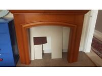 Fire Surround and Marble Plinth and Back Panel