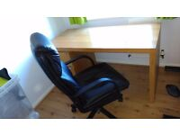 Wooden Desk & Chair - Hardly Used
