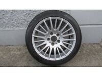 "17"" BMW Alloy Wheel With Brand New Tyre (spare)"