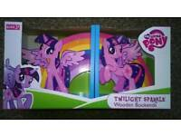New Boxed. My Little Pony Wooden Bookends.