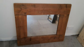 Chunky frame reclaimed wood mirror