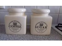 Coffee and sugar containers