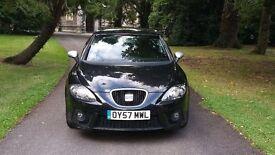 2007 (57) SEAT LEON 2.0 TDI FR 170 BHP black £3495 *astra 308 c4 focus golf gt tdi audi a3 size