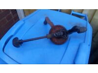 old fashion two speed hand drill collector