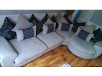 Milanese designer swivel corner sofa can deliver