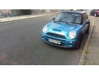2003 52 reg mini cooper S 1.6 petrol blue