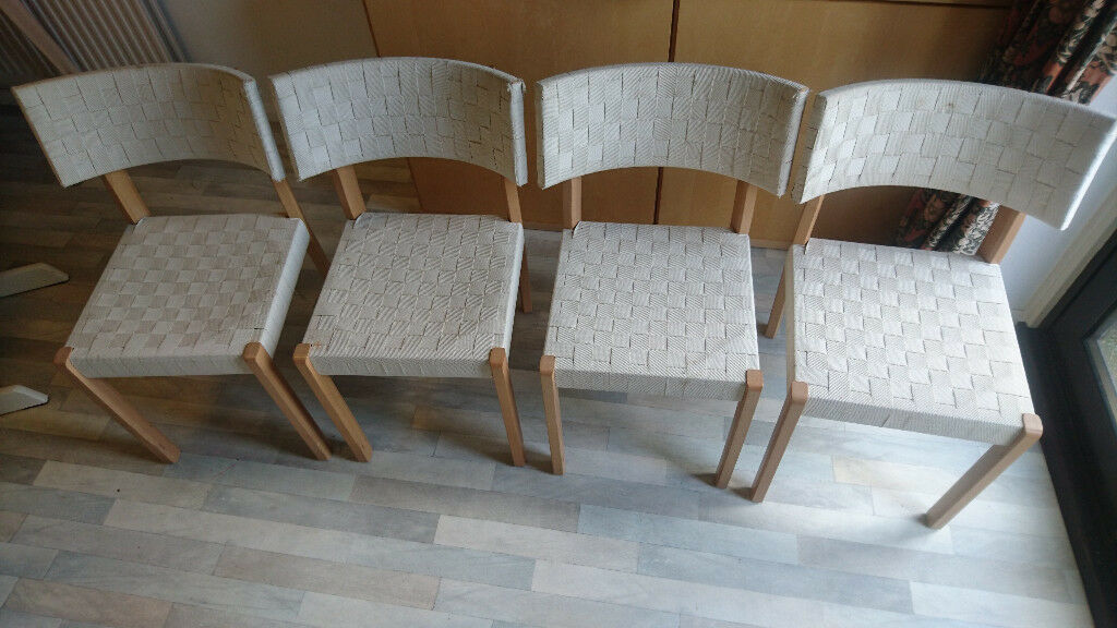 Wondrous 4 Ikea Fridolf Dining Chairs Beech And Woven Fabric In Oxford Oxfordshire Gumtree Pdpeps Interior Chair Design Pdpepsorg