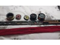 2 fly rods and reels