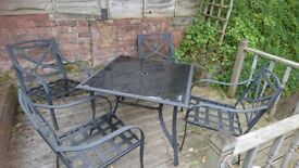 Patio table amd chairs