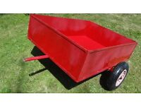garden trailer 4x3 hardly used ideal for sit on mower