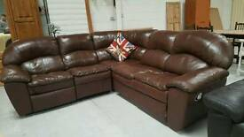 Leather corner sofa can deliver 07808222995
