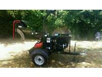 Sch 5 inch diesel wood chipper