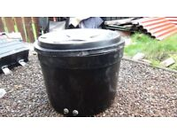 round water tank with comlete fitting