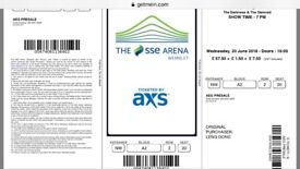 1 ticket 2nd row from stage! Block A2 row 2 seat 20