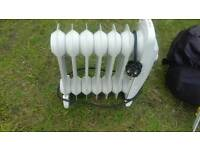 Small oil filled radiator ideal for caravan