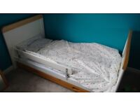 Cot Bed Tutti Bambini White Wood Toddler Child Baby