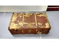 Large Vintage steamer trunk