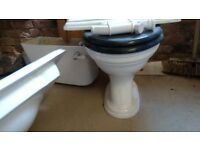 Victorian loo and wash hand basin with pedestal
