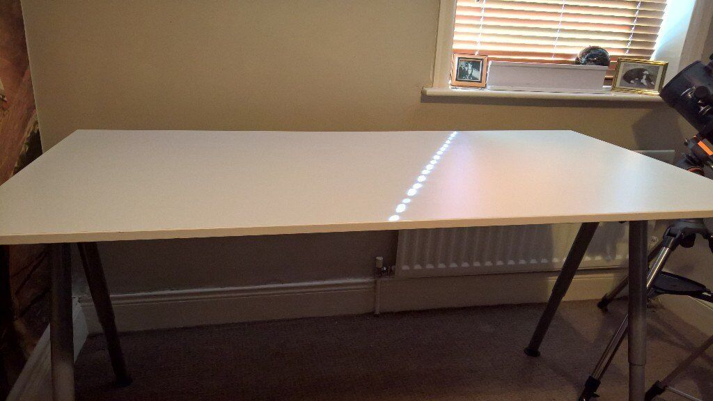 Ikea desk with steel adjustable legs csn be used as a drawing