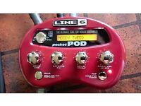 Line 6 Pocket POD Portable Guitar Effects Unit and Amp Modeller
