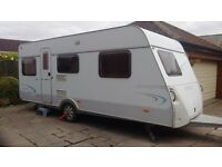 Hymer Living 530K 5 berth caravan with lots of accessories