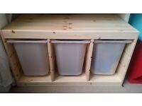 IKEA Trofast wooden three-part storage RRP£50