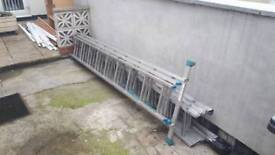 1 x 5m combination and 1 x 7m extension ladders
