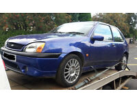 Ford Fiesta Zetec S Y-reg accident damaged, breaking for spares, full car available £150 ono