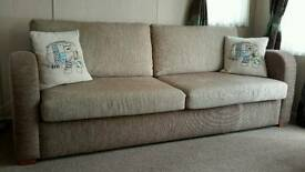 2 seater sofa and 3 seater with pull out bed