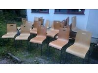 CAN DELIVER I 24x Vintage Retro Industrial Metal Framed Stacking Chairs School Cafe Bar