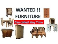 Furniture Wanted , Ready to collect ....Table , chair , unit .etc