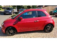 Beautiful pearlescent Red Fiat 500 Twin Air Turbo