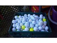 50 used mixed golf balls