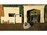 Flavel Rhapsody coal effect gas fire with fibreglass surround and micro marble hearth and backing