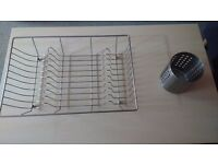 Dish drainer and cutlery drainer