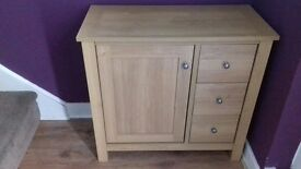Next oak effect furniture unit £150. 3 drawers 1 shelf in cupboard. On sale at next for £275