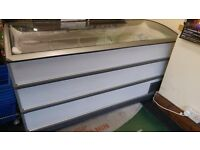 Curved glass top chest freezer good working order