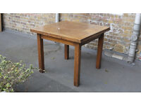 Vintage solid wood draw leaf extension dining table